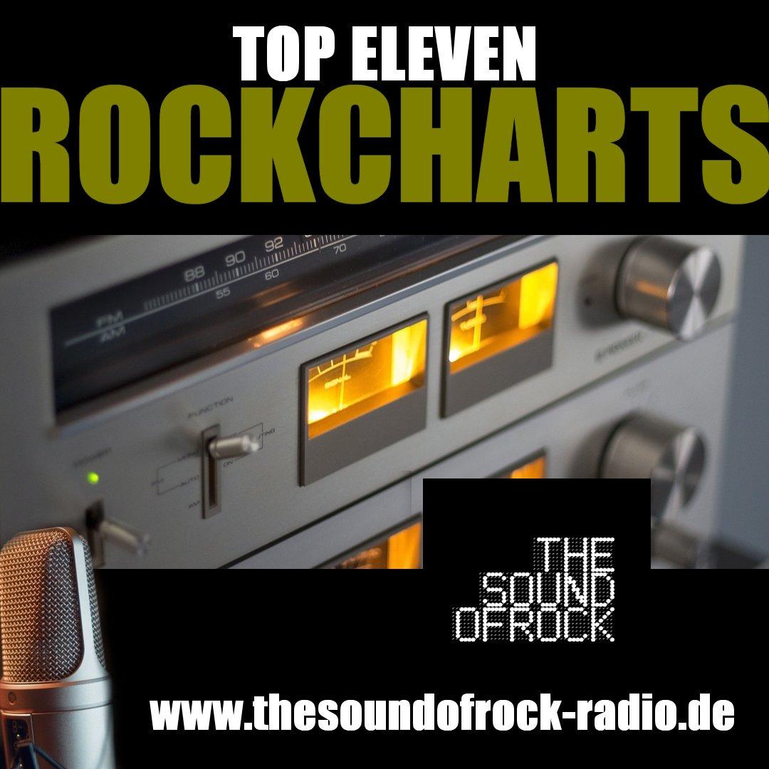TOP ELEVEN ROCKCHARTS auf www.thesoundofrock-radio.de