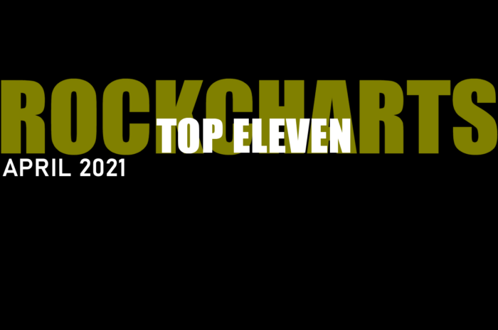 Top Eleven Rockcharts April 2021 by THE SOUND OF ROCK RADIO